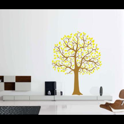 Seinakleebis Suur puu pruun-kollane