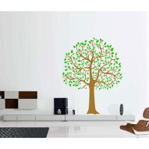 Seinakleebis Suur puu pruun-roheline