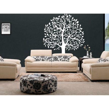 Seinakleebis Suur puu valge