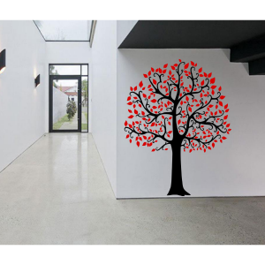 Seinalkleebis Suur puu must-punane