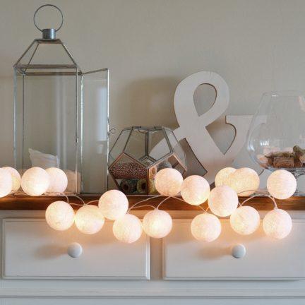 valguspallid kodusisustus jõulukingitus
