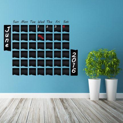 "Seinakleebis kriiditahvel ""Kalender 1"""