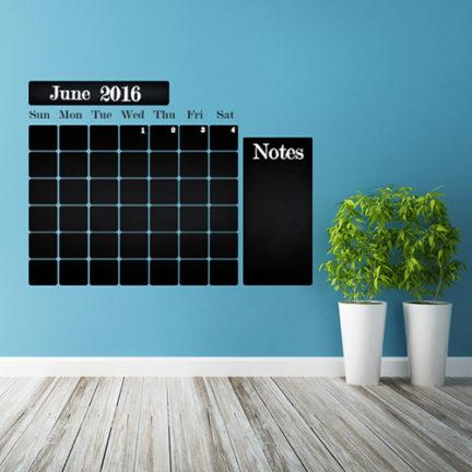 "Seinakleebis kriiditahvel ""Kalender 2"""