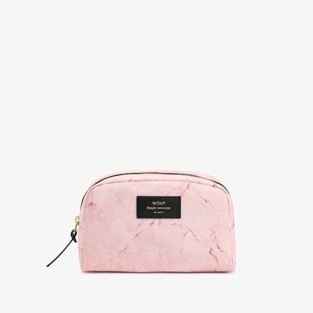 aefb57d711a Wouf suur kosmeetikakott Pink Marble